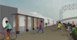 Cody Dock Visitor Centre visualisation