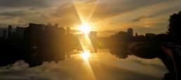 Sunset on the Lea